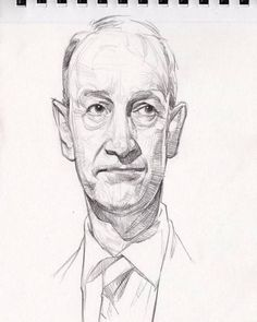 Politician on the margin.  I believe this is a UK politician that I know nothing about. But an interesting face is an interesting face.  .  ✏ #penciltober  #sketchbook #drawing #pencil #paper #kneadederaser #crosshatching #crosshatch #portrait...