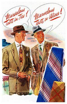 They've got marvelous taste in ties - and in wives!