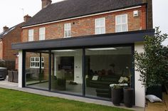 white rendered extension grey windows on brick white window house – Garden Room House Extension Design, Roof Extension, Extension Ideas, Extension Google, Garden Room Extensions, House Extensions, Windows Desktop, Rendered Houses, Outdoor Garden Rooms