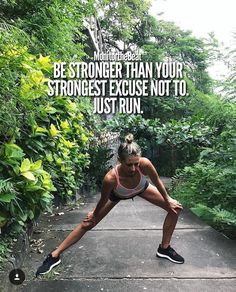 Be stronger than your strongest excuse not to. Just run. Running Quotes, Running Motivation, Fitness Motivation Quotes, Running Memes, Track Quotes, Sport Quotes, Sport Fitness, Fitness Goals, Fitness Tips