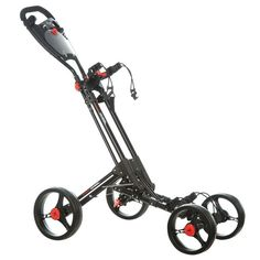 Dunlop 4 Wheel Golf Trolley (Black Frame) | Golf Trolley | Online-Shop