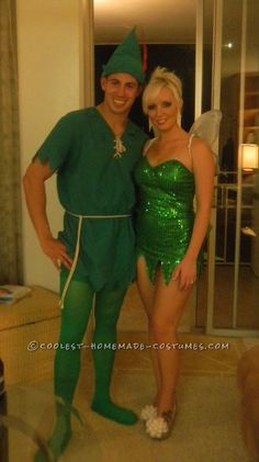 Best Peter Pan and Tinkerbell Couple Halloween Costume... This website is the Pinterest of costumes