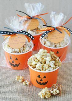 DIY Jack O' Lantern Popcorn Cups