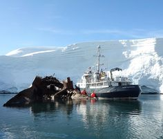 Foyn Harbor: One more look at this awesome parking spot alongside the wrecked Guvernoren.  It was early in the trip but this was already rating high on the favorite moments list.  #Antarctica #bestparkingspotever #HansHansson #latergram #Governoren #Guvernoren