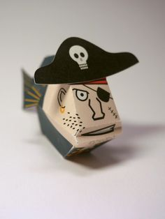 Pirate fish. Free PDF template available.