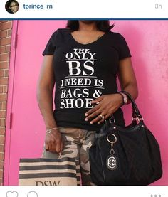 Only BS I need is bags and shoes on shunmelson.com