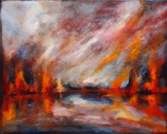 Rainfire by Laura Mulligan - PAINTING Artist, Painting, Painting Art, Paintings, Painted Canvas, Drawings, Artists
