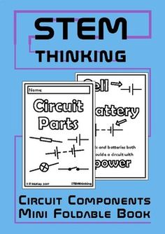 Electrical Circuit Components Mini Foldable Book for Middle and High School Physics ClassesThis 4 page mini book will help your students to remember the basic functions and symbols of the following circuit components:- cell- battery- switch- bulb- resistorInstructions on how to make the book are includedThis product is also available as part of my  Middle School Electrical Circuits BundleYou might also like:Series and Parallel Circuits Mini Book Circuit Components Doodle Notes Be the first…