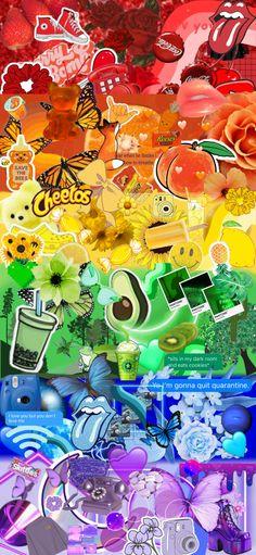 Iphone Wallpaper Themes, Funny Phone Wallpaper, Rainbow Wallpaper, Homescreen Wallpaper, Iphone Wallpaper Tumblr Aesthetic, Cute Patterns Wallpaper, Aesthetic Pastel Wallpaper, Colorful Wallpaper, Galaxy Wallpaper