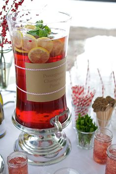 Pomegranate champagne punch!