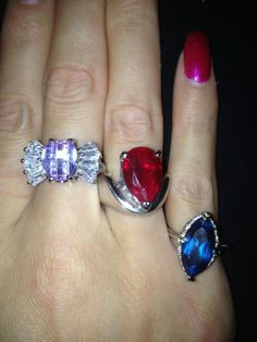 Three beautiful rings from three amazingly aromatic Diamond Candles. What do you think of these rings?