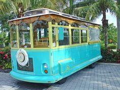 ☼ Sanibel Island, Florida ☼ — Sanibel Island Historic Trolley Tour this is how we got to my son's wedding location :-)