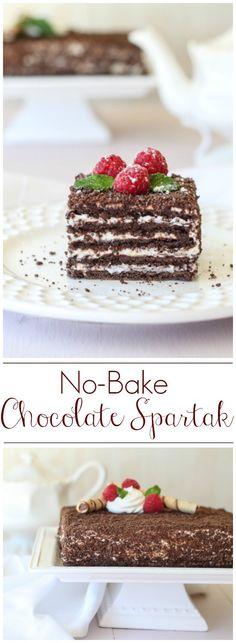 No-Bake Chocolate Spartak. ValentinasCorner.com