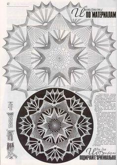 "Photo from album ""Дуплет on - Her Crochet Crochet Doily Diagram, Crochet Edging Patterns, Crochet Motif, Crochet Stitches, Knitting Patterns, Crochet Dollies, Crochet Art, Crochet Home, Irish Crochet"