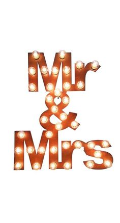Mr. and Mrs. marquee sign is Perfect at your wedding and as ambient lighting at home later!