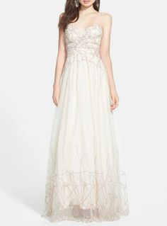 Fit for a princess   a white glitter ballgown for prom