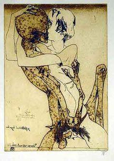 Billeddetaljer for -Horst Janssen handsigniert • Galerie Litterer Motiv 16