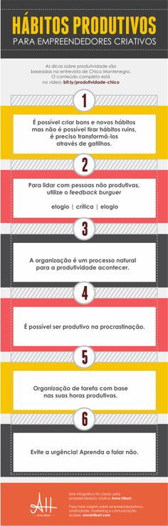 Hábitos produtivos para empreendedores criativos!