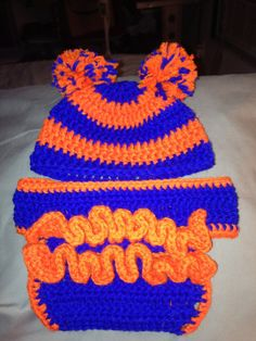Gator Baby Cheerleader Outfit by CrochetChic4U on Etsy, $35.00