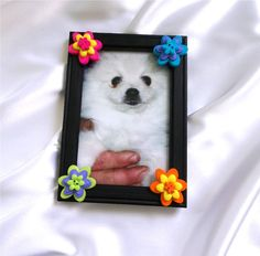 Black Button Picture Frame 4 X 6 Ready To Ship  by PowersOfLove, $8.00