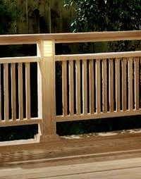 wood deck railings