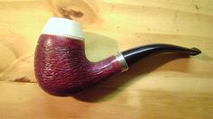 boxwood short shank with meerchaum insert handmade by B.F pipes