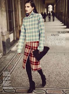Celine Plaid fashion editorial. Pinned by Modeconnect.com, the creative community for fashion education.
