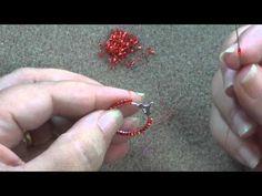 Come rivestire un cerchio con Brick Stitch   Tecnica - HobbyPerline.com - YouTube