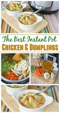 The Best Instant Pot Chicken & Dumplings Recipe Southern Comfort Food http://www.southernfamilyfun.com/instant-pot-chicken-dumplings/  via @winonarogers
