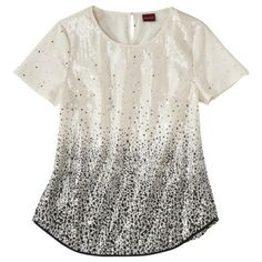 Merona® Sequin White & Black Blouse (perfect for a sparkly night)