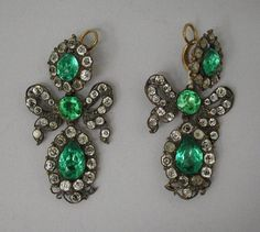 Earrings, France, the end of the 18th century, 6 cm