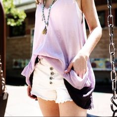 Free People Hombre Tank Dress Worn only once for the photoshoot in the photos above.  This tank fades from light pink to dark purple. Features pockets! Perfect condition! No trades! Free People Tops