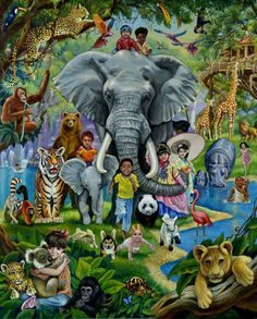 Elephants in Paradise Wallpaper Elephants Animals Wallpapers) – Wallpapers For Desktop Jw Bible, Bible Art, Caleb E Sophia, Jehovah Paradise, Family Worship Night, Life In Paradise, Paradise Pictures, Hiro Big Hero 6, Jehovah's Witnesses