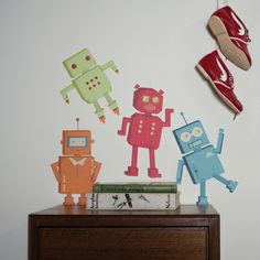 Robots Fabric Wall Decals