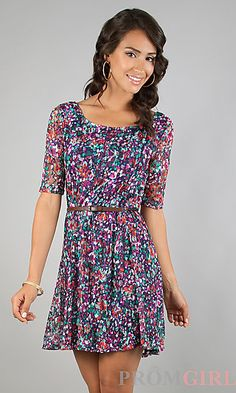 Short Print Casual Dress, id pair this with a leather jacket and boots