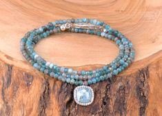 Apatit Taşlı Üç Sıra Gümüş Bileklik Zet.com'da 170 TL Turquoise Necklace, Jewelry, Fashion, Moda, Jewlery, Jewerly, Fashion Styles, Schmuck, Jewels