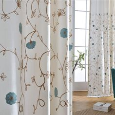 AWESOME curtains, high quality material! Really pretty drapes, well made! #embroideredCurtains	#blueFlowerCurtains	#whiteDrapes	#patternedCurtains #blackoutCurtains	#curtainPanels	#countryCurtains	#curtainsAndDrapes #windowsCurtains	#rodPocketCurtains	#livingRoomCurtains	#noiseReductionCurtains #girlsCurtains	#thermalCurtains	#privacyCurtains	#tierCurtains