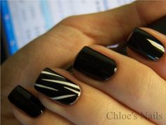 Chloe's Nails: Black Swan movie night mani....