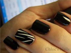 Chloe's Nails: Black Swan movie night mani....