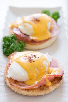 Eggs Benedict. Hands down my all time favorite thing for breakfast! YUUUUM! This recipe has an odd method for making the Hollandaise sauce, but the pictures look yummy yummy yummy!
