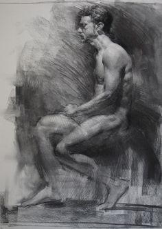 Art: Figure and Head studies in charcoal, graphite, pen and paint.. - Page 5
