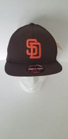 0e9ff1fb5b8 American Needle MLB San Diego Padres Snapback Cap - brown and gold  fashion   clothing