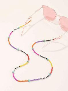 Diy Friendship Bracelets Patterns, Bracelet Patterns, Beaded Jewelry, Beaded Necklace, Beaded Bracelets, Necklace Designs, Sunglasses Accessories, Chain, Instagram