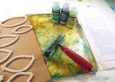 Making a Rope Texture Tool for Gelli Printing | Carolyn Dube | Bloglovin'