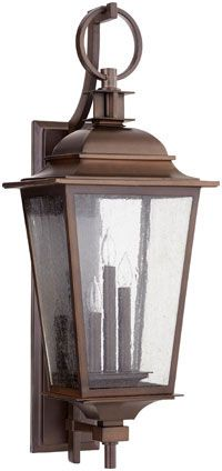 Quorum 7730-3-86 Pavilion Oiled Bronze Outdoor Wall Sconce Lighting - QRM-7730-3-86