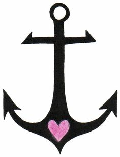 Small Anchor Tattoo Design #tattoo #tattoodesign #anchor #heart https://www.facebook.com/DaisyatSecretInk