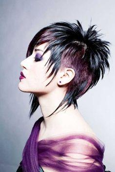 2013 hair color trends for short hair colour - Black Haircut Styles Black Haircut Styles, Haircut And Color, Haircut Short, Hairstyle Short, Hair Updo, Short Funky Hairstyles, Hair Undercut, Straight Hairstyles, Short Hair Cuts