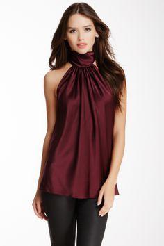 Silk Blend Halter Blouse