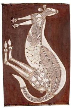 Lofty NabadayalBark painting   Lofty Nabadayalwas one of the best and most prolific Aboriginal bark painters from Oenpelli in Western Arnhem Land. He stuck true to his rock painting background and did not incorporate styles from other areas.  I collect...