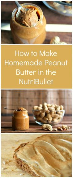 How to Make Homemade Peanut Butter in the NutriBullet | One spoon of this healthy peanut butter recipe and you'll never have store-bought again! You only need 2 minutes and 4 ingredients to make this amazing homemade peanut butter.